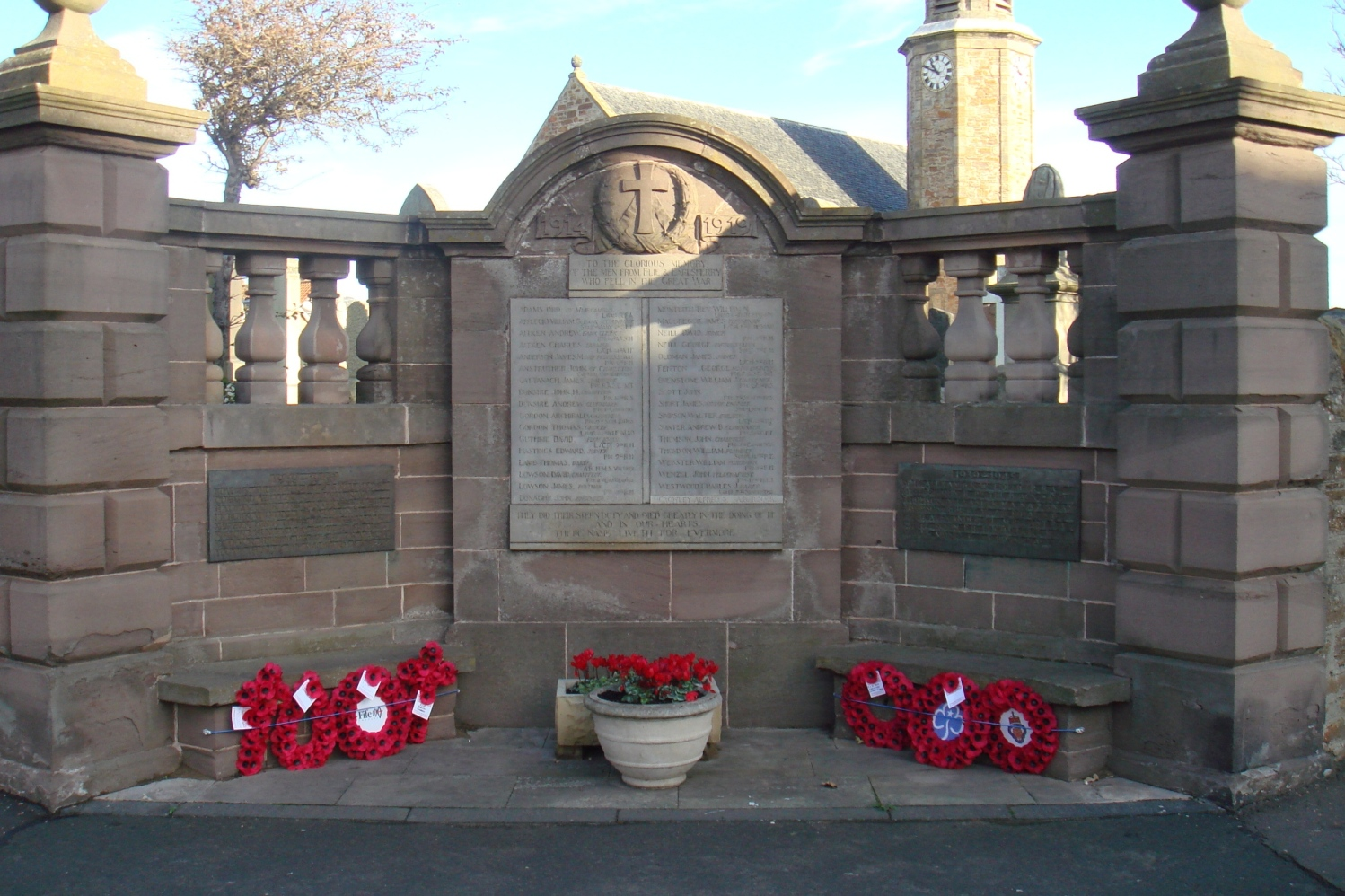 Elie War Memorial. Fife. Scotland